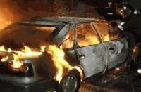 Лек автомобил е изгорял при пожар в Сливен