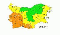 Оранжев и жълт код за дъжд е обявен за 19 области в страната