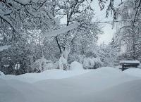 Около 6-7 см сняг има по високите части на Сливен