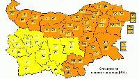 Оранжев и жълт код за сняг, дъжд и вятър в страната за понеделник