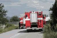 Автобус се запали по пътя Бургас-Камено