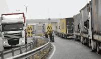 30 км опашка от камиони на ГКПП Капъкуле/Капитан Андреево