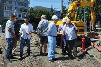 """Продължават строителните дейности по изграждането на кръстовището """"Розова градина"""""""