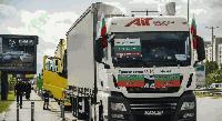 Българските превозвачи протестират в Брюксел