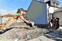 Първата копка на строежа на общежитието в Националната художествена гимназия в Сливен беше направена днес