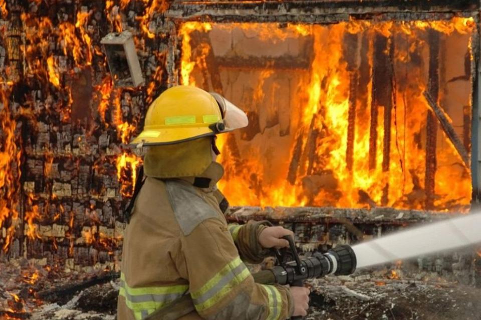 """10 крави изгоряха в първомайското село Езерово при пожар в стопанска постройка,съобщиха от пресцентъра на Главна дирекция """"Пожарна безопасност и защита..."""