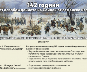 На 17 януари Сливен ще отбележи 142 години от освобождението си