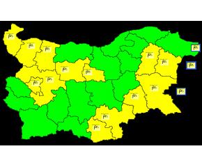 В 20 области е в сила жълт код за силен вятър