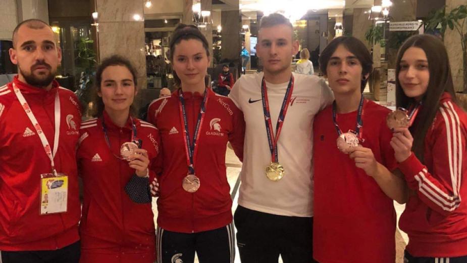 Българските състезатели спечелиха още 5 медала на европейското клубно първенство по таекуондо олимпийска версия, което се провежда в хърватската столица...