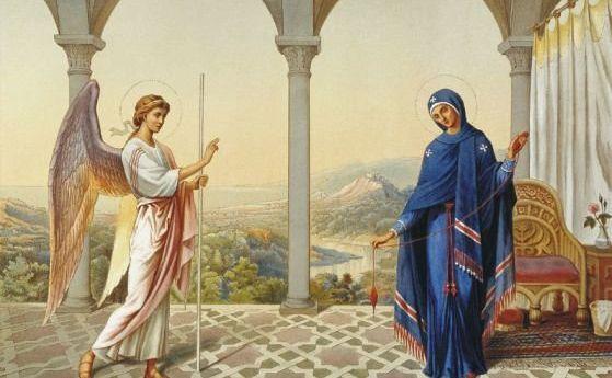 """Днес е Благовещение, един от най-светлите християнски празници, известен в българския обреден календар като Благовец и """"половин Великден"""". Дева Мария получава..."""