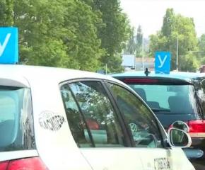 Автоинструктори блокират центъра на София