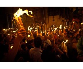 Благодатният огън слезе в Ерусалим