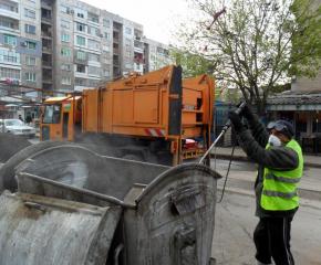 Дезинфекцират улиците на Пловдив