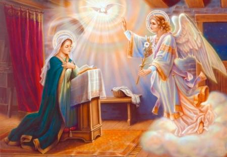 Християните празнуват днес Благовещение - деня, в която Архангел Гавриил съобщава на Дева Мария, че ще роди Божия син. Ето как е описано събитието в Евангелието...