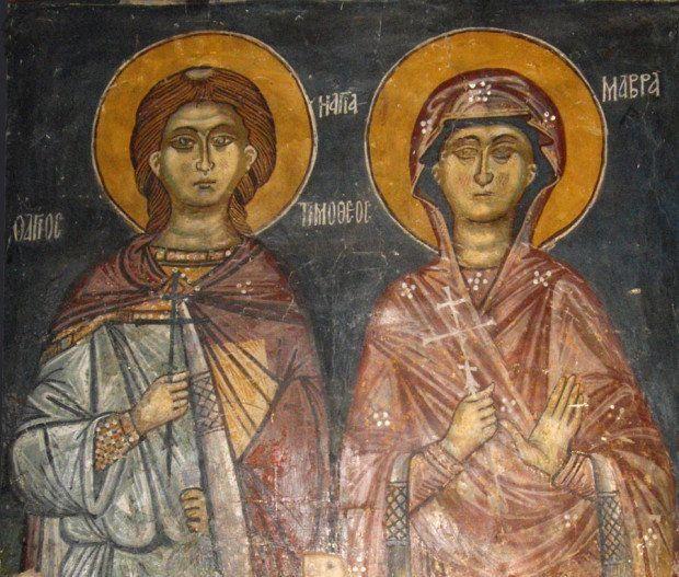 Църквата почита на 3 май св. мъченик Тимотей и св. мъченица Мавра. Те пострадали през 286 г. при царуването на Диоклетиан. Съпрузите били измъчвани по...