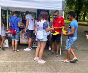 Доброволци на БЧК участваха в проявите за Международния ден на младежта