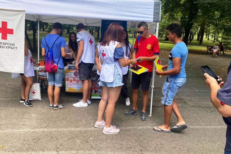 Доброволци от БМЧК-Ямбол се включиха в инициатива, организирана от Министерство на младежта и спорта и Община Ямбол по повод 12 август-Международния ден...
