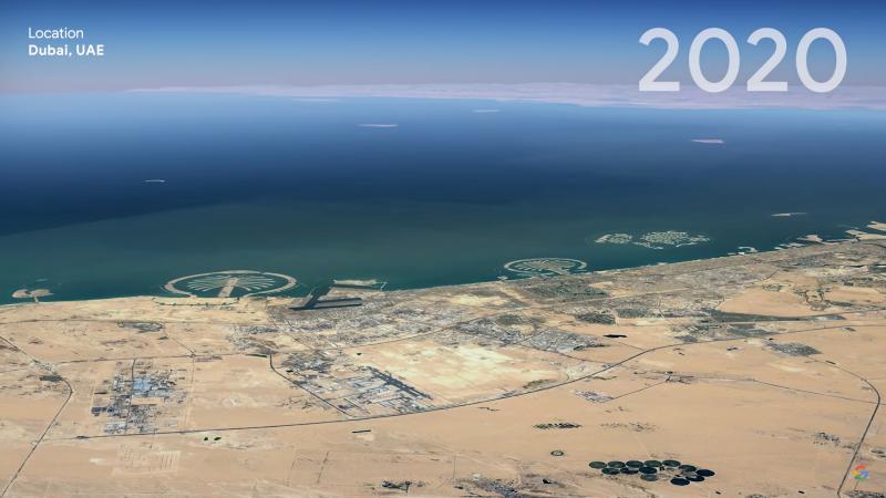 Потребителите на Google Earth вече могат да видят поразителния ефект от изменението на климата през последните четири десетилетия. Новият инструмент на...