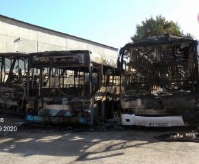 Има заподозрян за палежа на автобусите в Ямбол