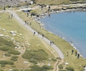 Изградиха близо 50 метрова пътека от чакъл край езерото Бъбрека в Рила