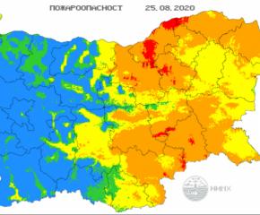 На изток - опасност от пожари, на запад - дъжд с гръмотевици