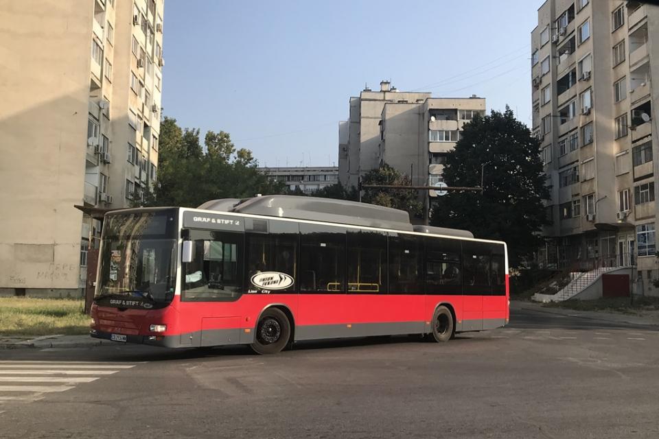 """От 13:00 часа на 26 август, четвъртък, автобуси, обслужващи градски линии № 16, 20 и 25, няма да могат да влизат в отбивката на улица """"Индустриална"""" /..."""