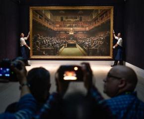 Картина с британските депутати като маймуни беше продадена за 12 млн. долара