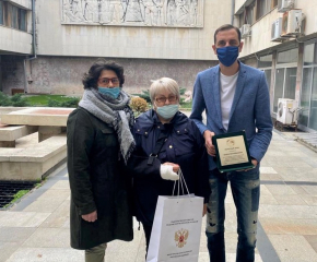 Кметът на Община Ямбол получи почетен знак от Координационния съвет на руските съотечественици в България