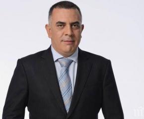 Кметът Стефан Радев поздравява митрополит Иоаникий за рождения ден