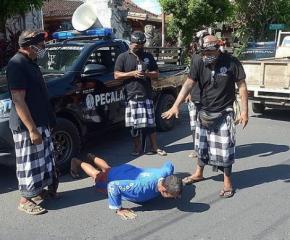 С лицеви опори наказват за неносене на маски на остров Бали