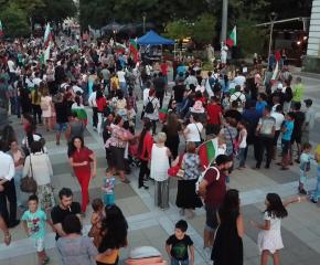 Многолюден протест срещу Стратегията за детето в Ямбол