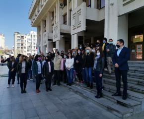 Над 150 прокурори, следователи и служители от Апелативен район-Бургас излязоха на протест