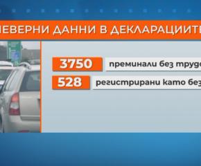 Над 3700 с невярни декларации на КПП-тата