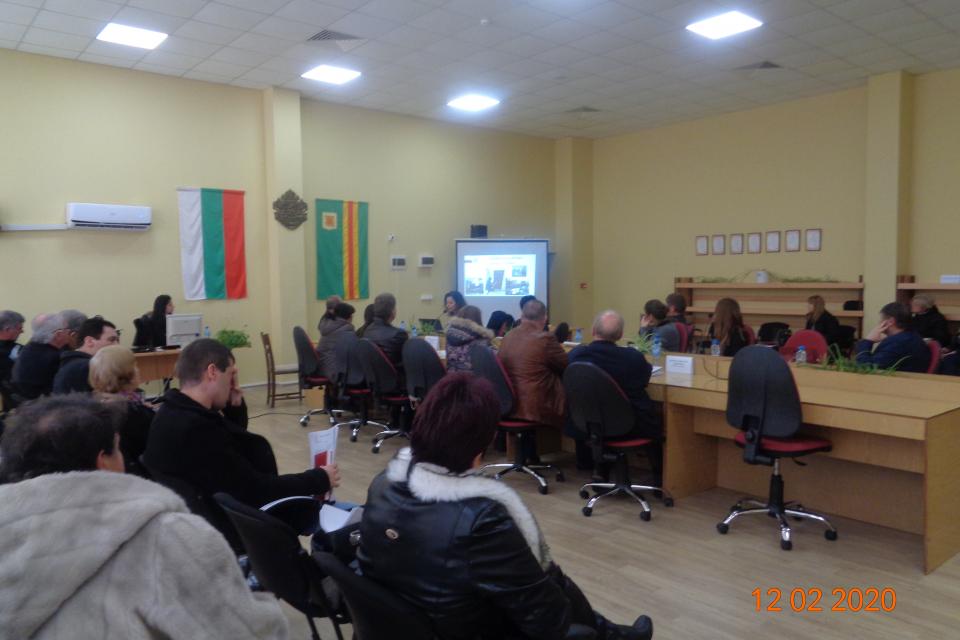 """В изпълнение на проект #EuSAVE -ДЕЙНОСТИ НА ГРАЖДАНИТЕ НА ЕС ЗА УМНИ ИСТОРИЧЕСКИ СЕЛИЩА"""" в заседателната залата на община Болярово се проведе представяне..."""