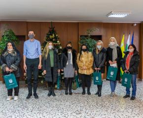 Награждаване на победителите в конкурса за външна коледна украса на Община Ямбол