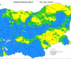 НИМХ: Висок е рискът от пожари за Ямбол, Сливен и още области в страната