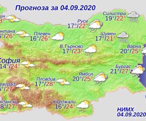 Облачно и с валежи от дъжд в Източна България