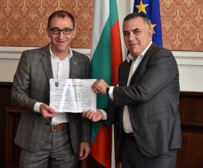 Община Сливен издаде сертификат за насърчаване на инвестициите с общинско значение