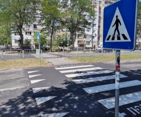 Община Ямбол изгради повдигнати пешеходни пътеки на участък с най-много сигнали за опасност от ПТП (видео)