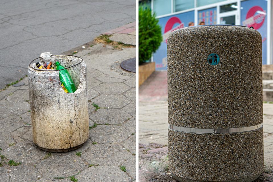 В Ямбол започна подмяна на бетонните кошчета за отпадъци и поставяне на нови. Тези, които са с леки повреди, ще бъдат ремонтирани. Двадесет и един броя...