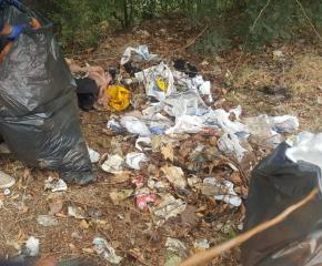 """Общинско предприятие """"Паркове и зони за отдих"""" разчиства незаконни сметища в Ямбол"""