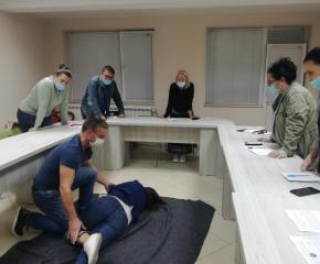 Обучение на Доброволния екип за работа при бедствия, аварии и кризи на БЧК - Ямбол