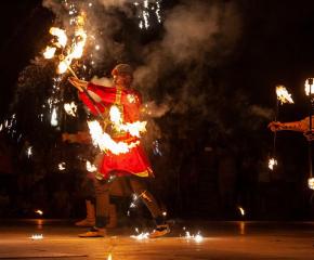 Огнено шоу за Деня на Ямбол