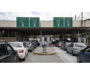 """Около 3 километра опашка от автомобили на ГКПП """"Кулата-Промахон"""""""