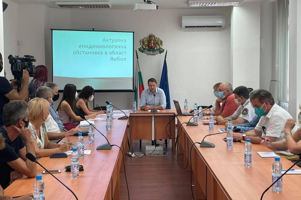 Заседание на Областния медицински съвет, във връзка с готовността на лечебните заведения да посрещнат евентуална нова вълна от заболели от Ковид 19, се...