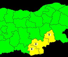 Опасно горещо в Ямбол, Хасково и Кърджали