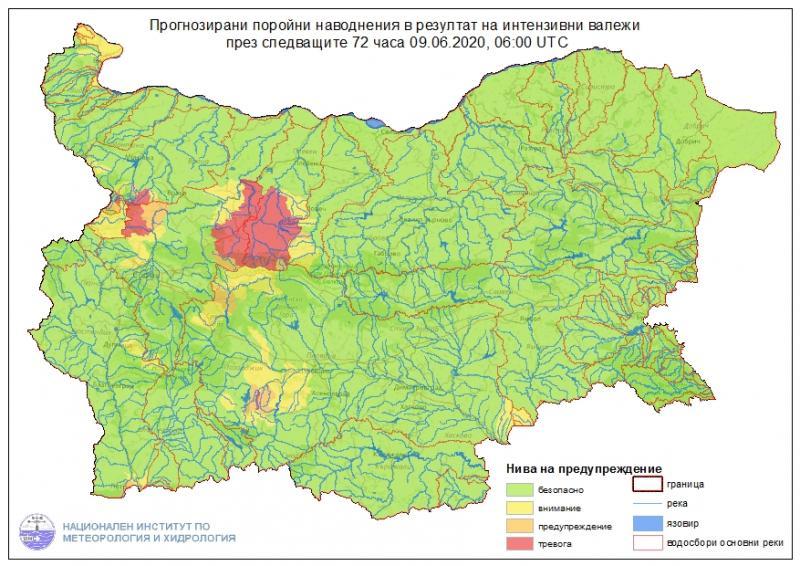 За опасност от възникване на поройни наводнения в периода 10-11 юни в Дунавски, Източнобеломорски и Западнобеломорски басейни предупреждават от Националния...