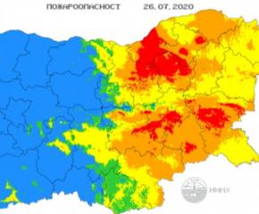 Опасност от пожари в 7 области от страната