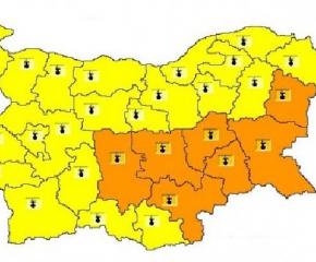 Оранжев код за горещини в Ямбол и още 6 области в страната
