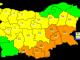 Отново оранжев код за Ямбол, Сливен и още 4 области